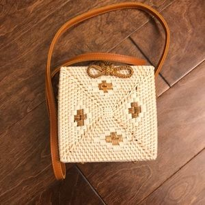 Urban Outfitters Bags - Woven rattan handmade crossbody bag